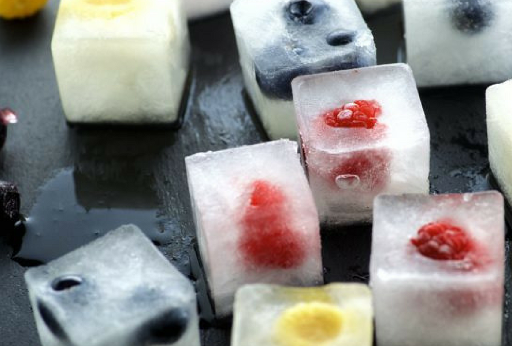 Hydration series:  Coconut Water and Fruit Ice Cubes