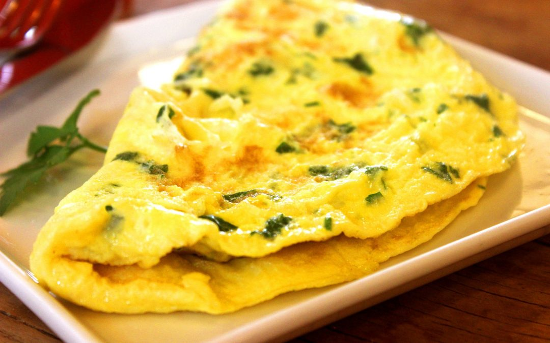 Spinach and Onion Omelet